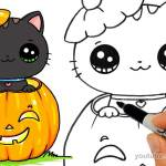 draw so cute halloween tutorials
