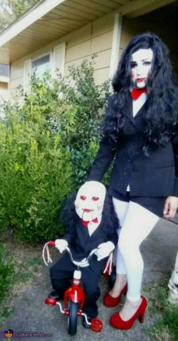 jigsaw costume ideas for mom and son