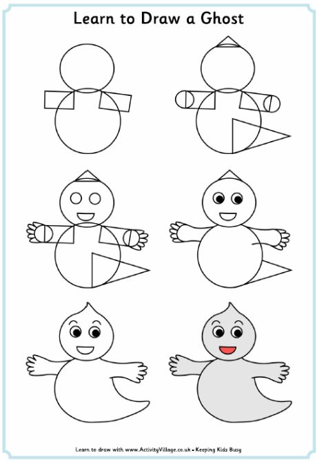 learn how to draw a cute ghost for halloween
