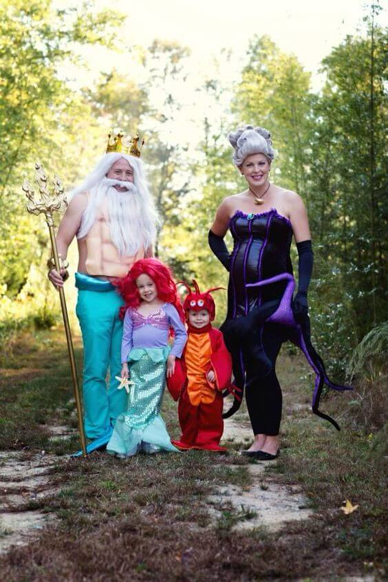 little mermaid inspired family halloween costume ideas