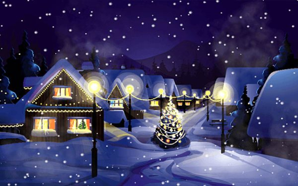 christmas village screensaver