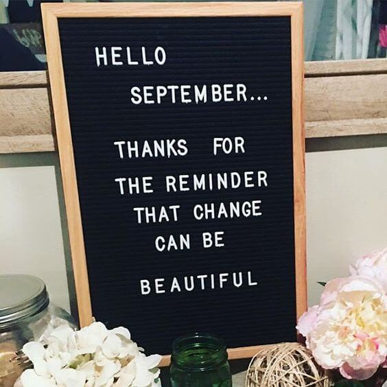 hello september quote image