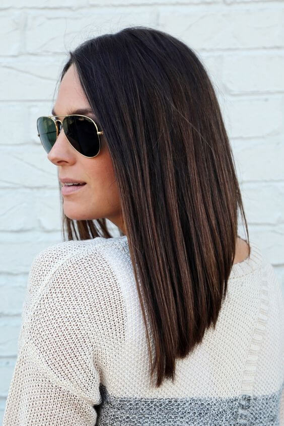inverted hairstyle
