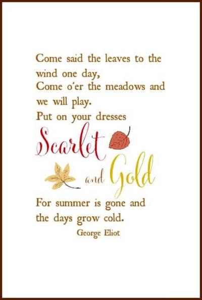 welcome autumn poem