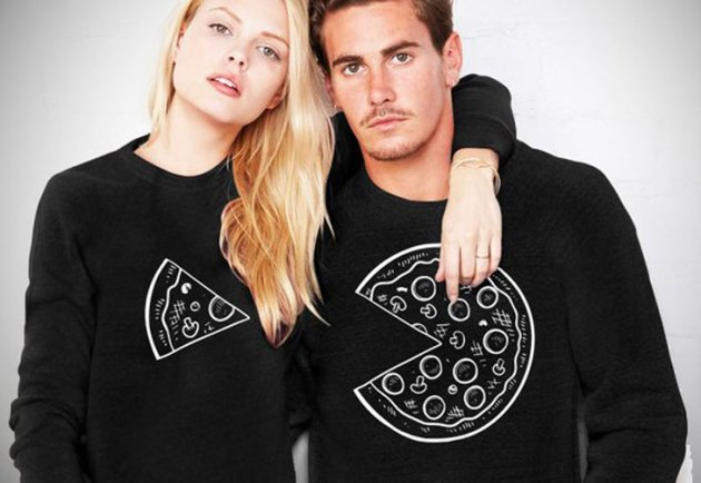 pizza logo inspired matching outfits for boyfriend-girlfriend