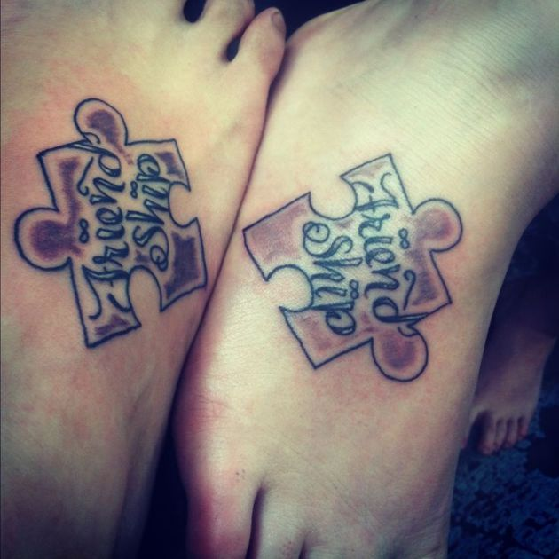 friendship puzzle pieces tattoo