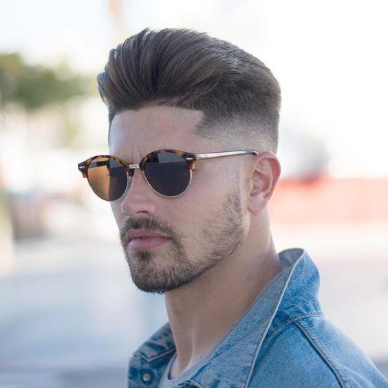 men haircut types-pompadour
