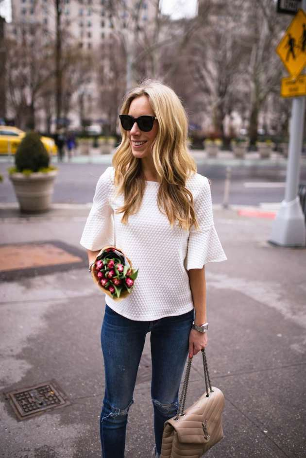 bell sleeve top ideas for spring 2019