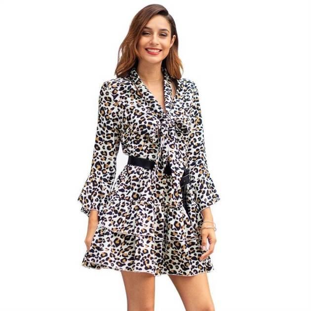 leopard print suit dress ideas for spring 2019