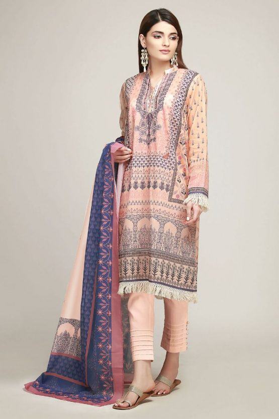 khaadi peach color lawns for 2019