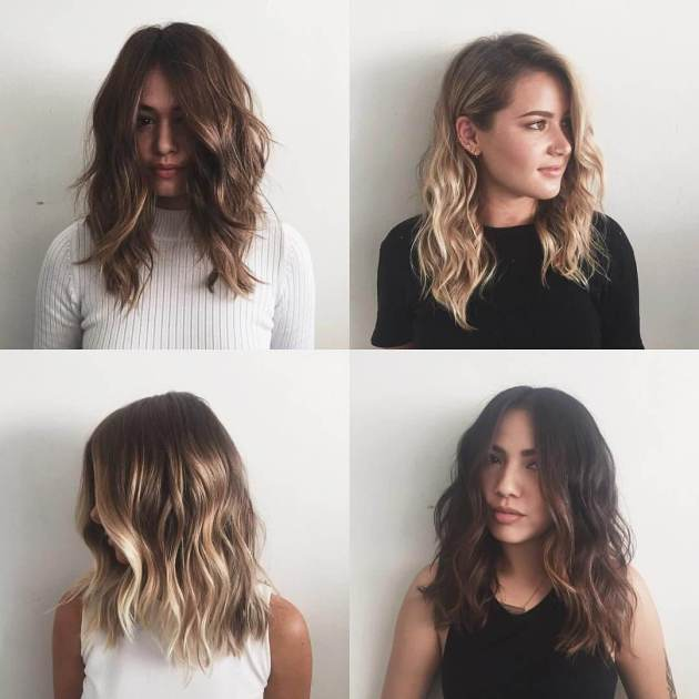 long layered medium haircuts