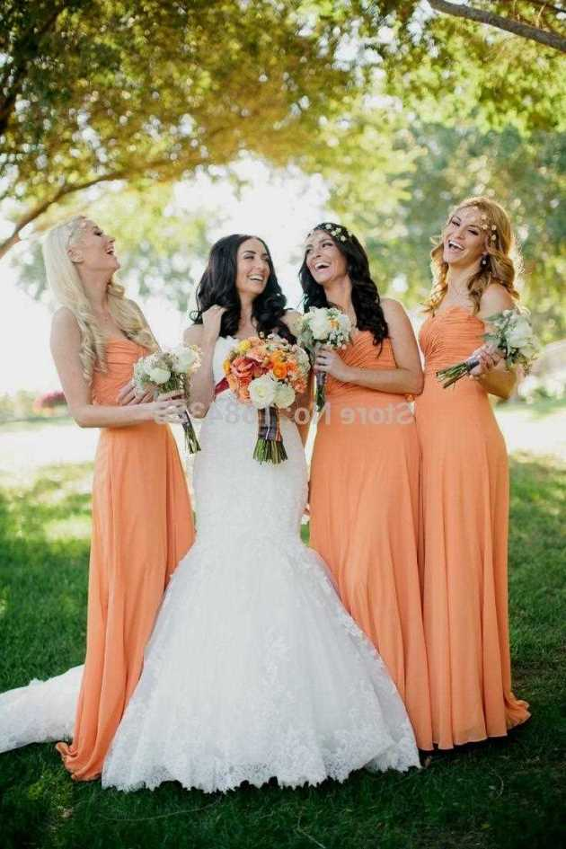 light orange wedding dress ideas 2019