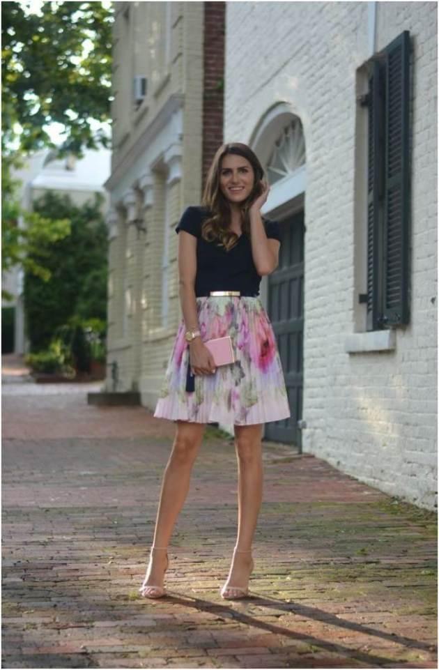 ruffled chiffon skirt with dark top wedding guest dress ideas for 2019