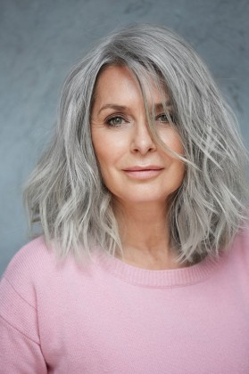 shoulder length layered haircut for older women