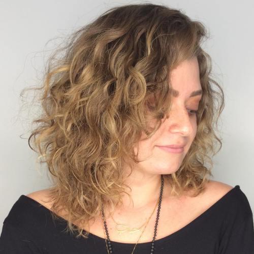 curly layered medium haircut