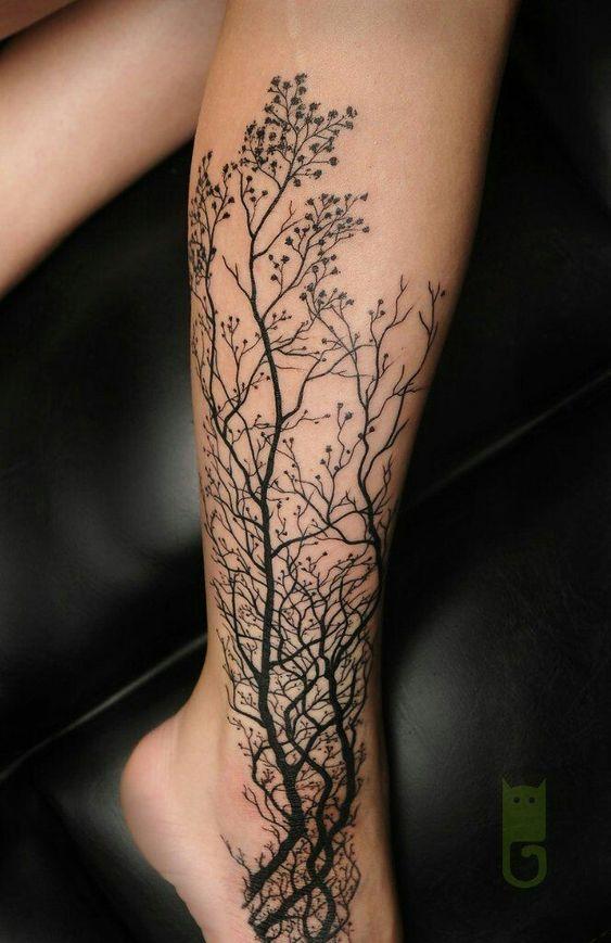tree branches tattoo design