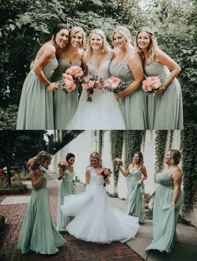 sage green wedding dress color ideas for summer 2019