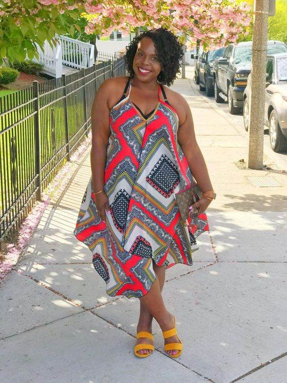 plus size African women printed summer outfits