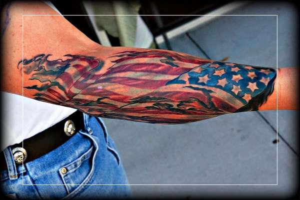american flag tattoo cover up