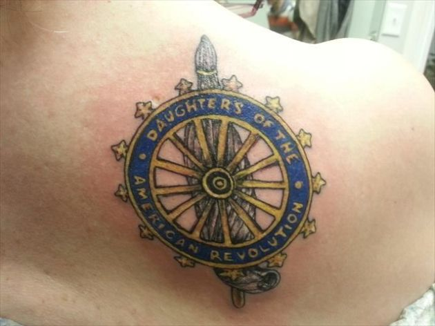 daughters of the american revolution tattoo