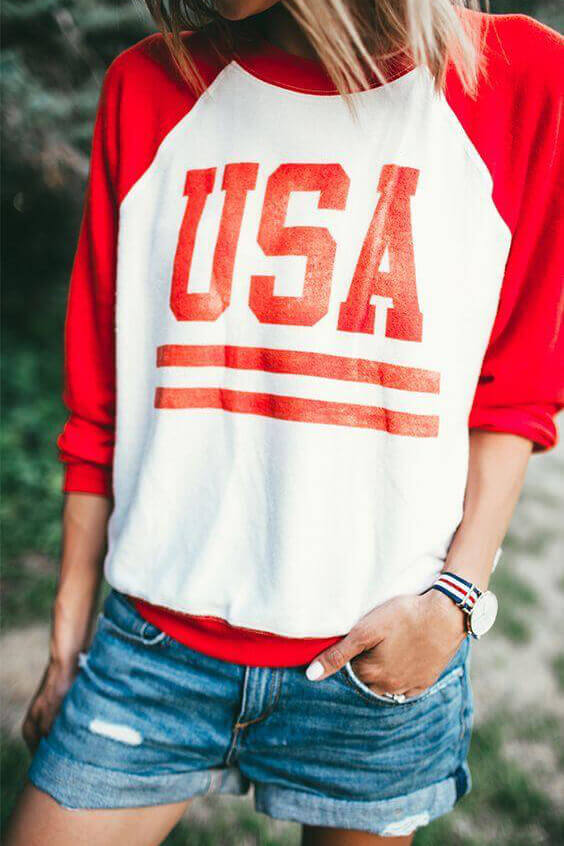 patriotic 4th of july usa t-shirt ideas for girls