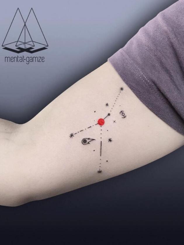 cancer constellation tattoo design