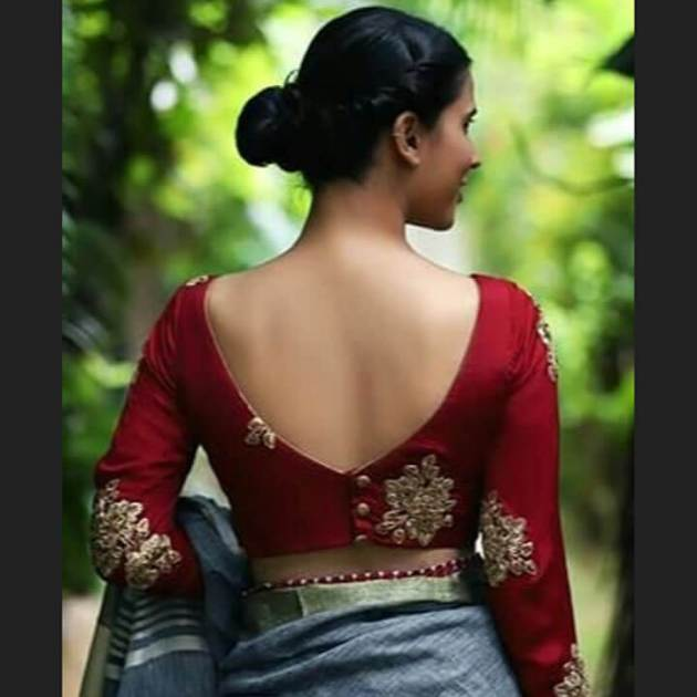 back blouse design for saree