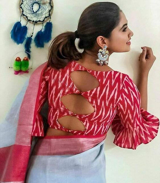 blouse back design 2019
