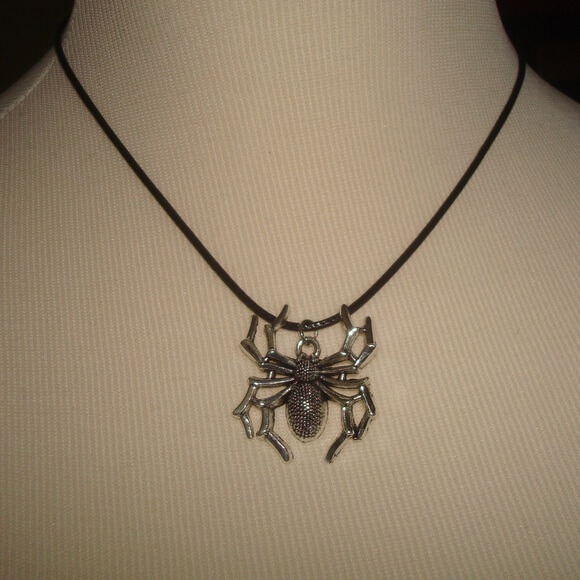 antique spider necklace