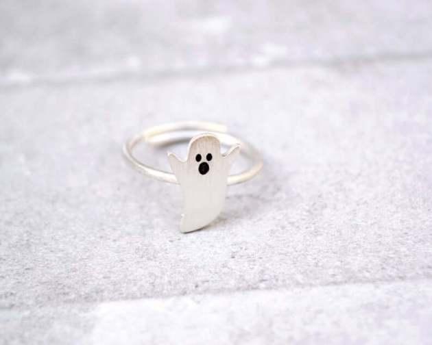 halloween ghost phantom ring jewelry