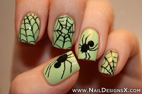 spider web nail stickers for halloween