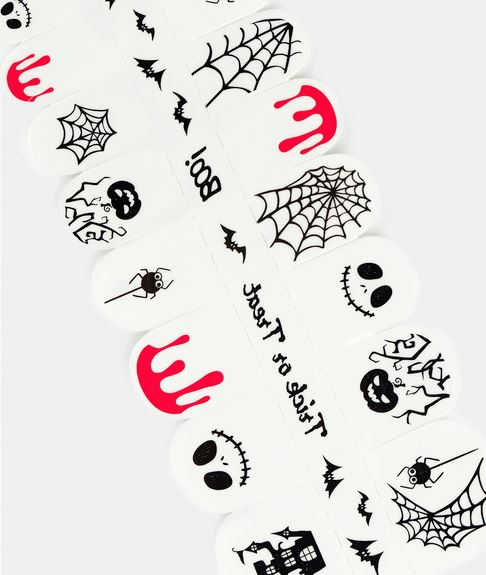 spooky halloween nail stickers