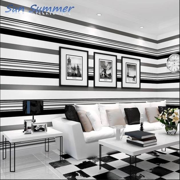 black and white luxury room decorations