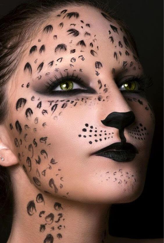 cat halloween makeup for girls