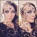 halloween spider makeup