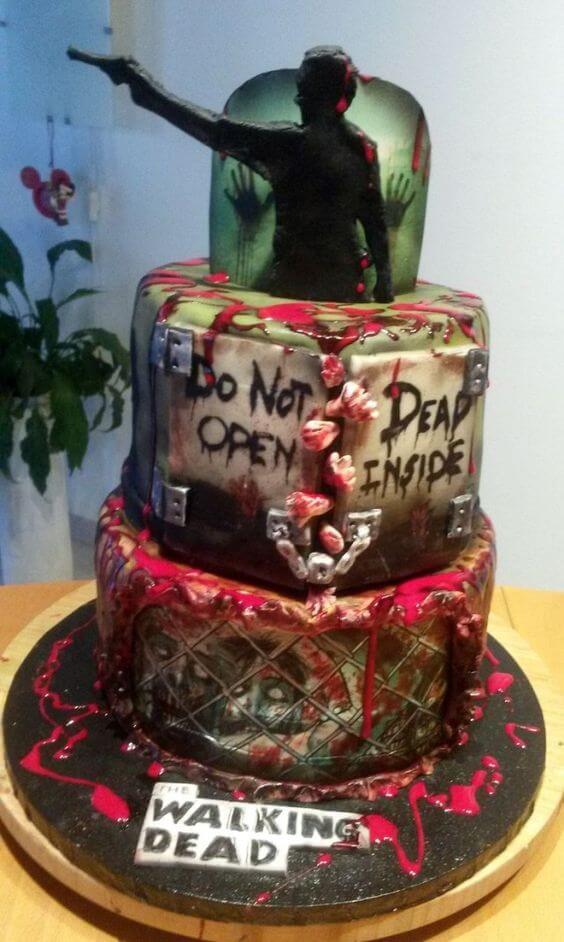 don't enter dead inside wedding cake for halloween