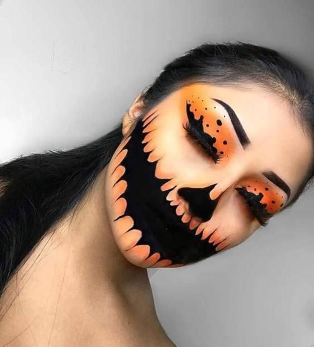 halloween pumpkin makeup ideas 2019