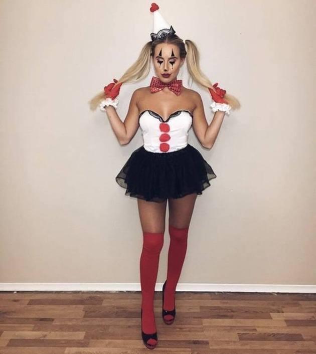 sexy clown girl halloween costume ideas