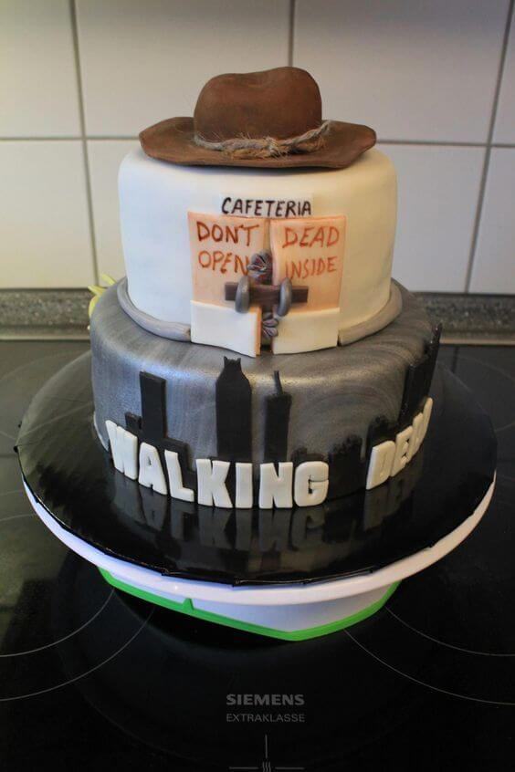the walking dead don't open dead inside cafeteria wedding cake
