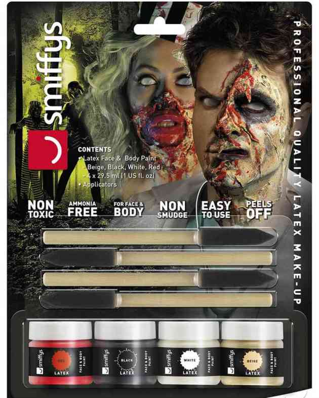 zombie liquid latex 4-coloured set