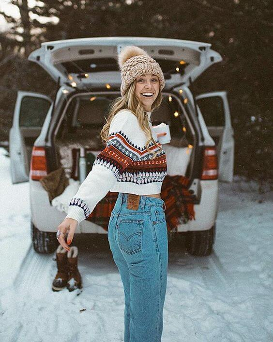 casual winter holiday outfit ideas