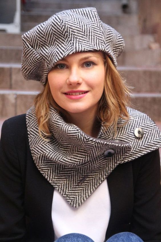 french beret womens hat for short hair