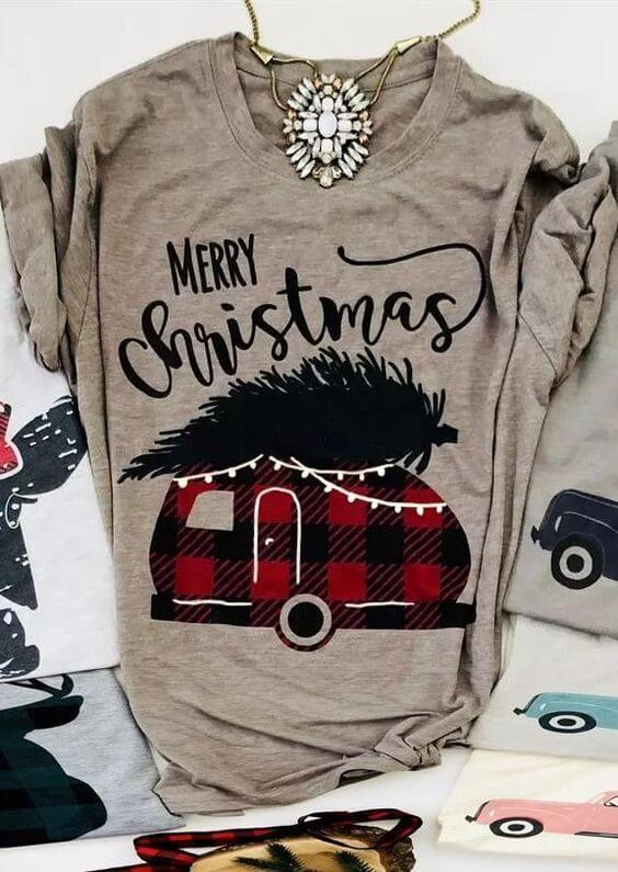 merry christmas camper shirt ideas for teenage girls