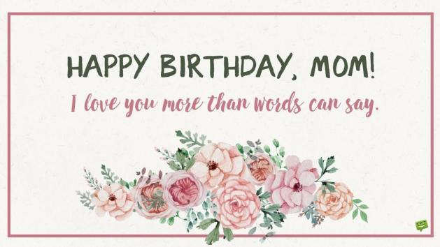 birthday love messages for mom