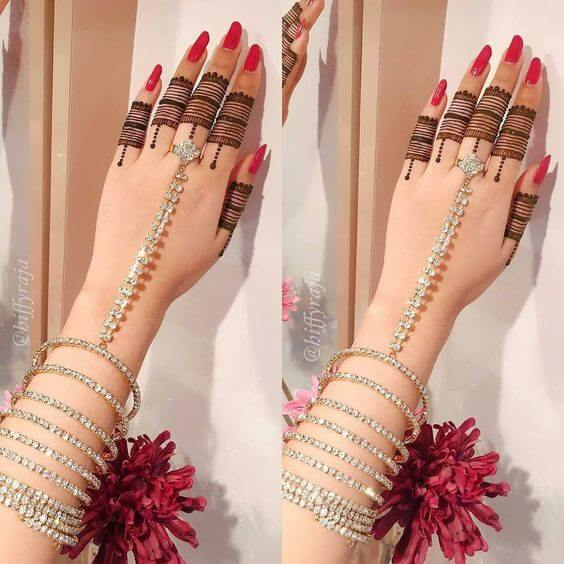 simple ring design mehndi styles for fingers