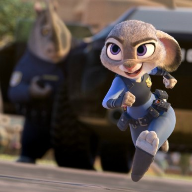 """ZOOTOPIA –OFFICER HOPPS -- Judy Hopps (voice of Ginnifer Goodwin) believes anyone can be anything. Being the first bunny on a police force of big, tough animals isn't easy, but Hopps is determined to prove herself. Featuring score by Oscar®-winning composer Michael Giacchino, and an all-new original song, """"Try Everything,"""" performed by Grammy® winner Shakira, Walt Disney Animation Studios' """"Zootopia"""" opens in U.S. theaters on March 4, 2016. ©2015 Disney. All Rights Reserved."""