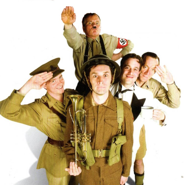 Shotto Morgan leads the way as Gunner Milligan in Spike Milligan's  Adolf Hitler - My Part in His Downfall