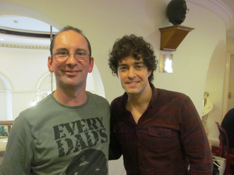 Andy Howells pictured with Lee Mead at Cardiff's New Theatre.