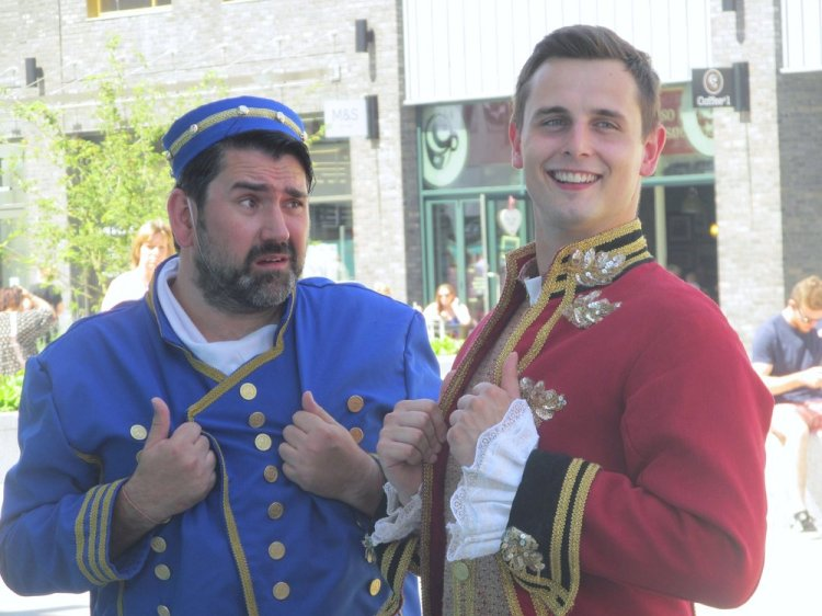 Actors Richard Elis and Lloyd Green will star in Newport's 2016-17 Riverfront pantomime, Cinderella. Photograph: Andy Howells