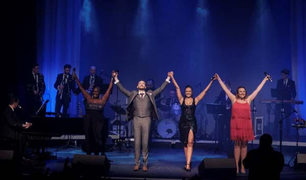 The cast backed by the Back To Bacharach orchestra.